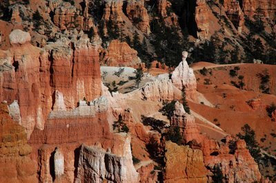 hoodoos in the canyon, including Thor's Hammer
