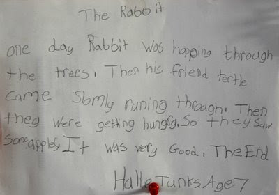 this youngster could be another great southern writer in the making!