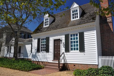 the Robert Carter office, located near the Governor's Palace at Colonial Williamsburg