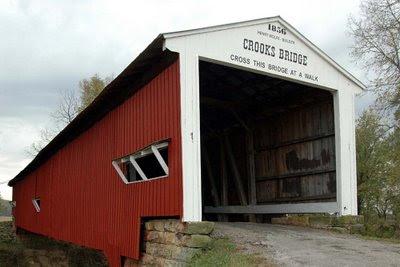 Crooks Bridge, built by Henry Wolfe in 1856