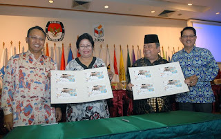 Sosialisasi Perangko Pemilu Indonesia 2009 - Kampanye Damai Pemilu Indonesia 2009