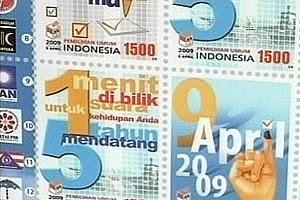 Perangko Pemilu Indonesia 2009 - Kampanye Damai Pemilu Indonesia 2009