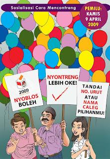 Komik Kampanye Damai Pemilu Indonesia - cover