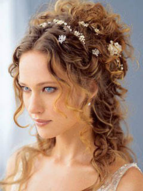 curly hairstyles with bangs. Nice Long Curly Hairstyle with Blunt Bangs