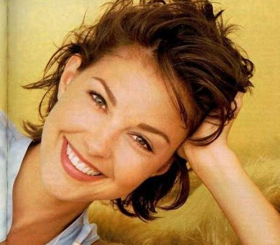Brown Hair With Highlights Ashley Judd Celebrity Short Pixie Haircuts