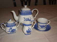 "Tea Wares - Churchill ""Out of the Blue"" - England"