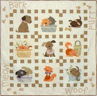 Puppy Dog Quilt Block Free