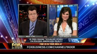 Tiffany Michelle being interviewed by Neil Cavuto on Fox News