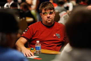 Chris Moneymaker playing Day 1a of the 2010 WSOP Main Event