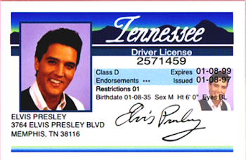 Elvis' Drivers' License