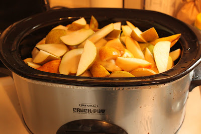 pear butter in the crockpot