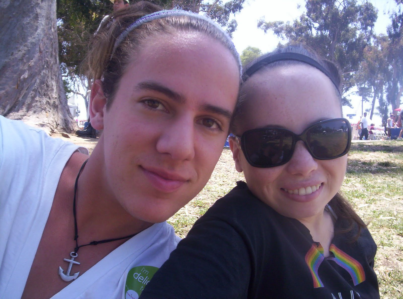 (Me and my best friend, William, at Gay Pride)