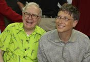 Warren Buffett and Bil Gates