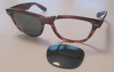 broken ray ban sunglasses  An Affordable Wardrobe: R.I.P. Ray-Bans...x2