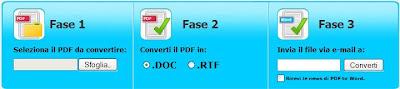 TRASFORMARE FILE IN PDF