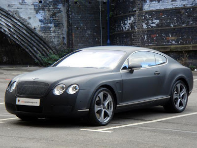 Matte black bentley