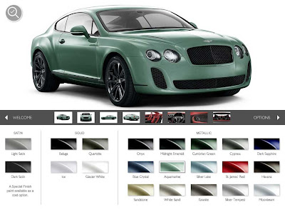 BENTLEY SPOTTING: Online Bentley Configurator