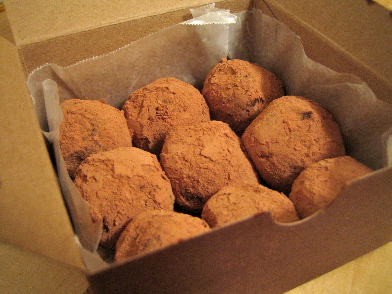 VELVETY DARK CHOCOLATE FRANGELICO TRUFFLES