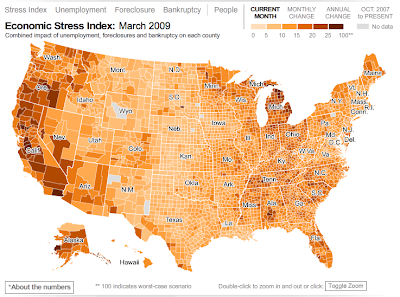 economic stress test Hardest hit in America