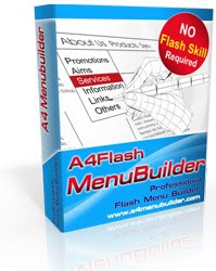 تحميل تنزيل برنامج تصميم مواقع فلاش A4 Flash Menu Builder 2.55 برابط مباشر