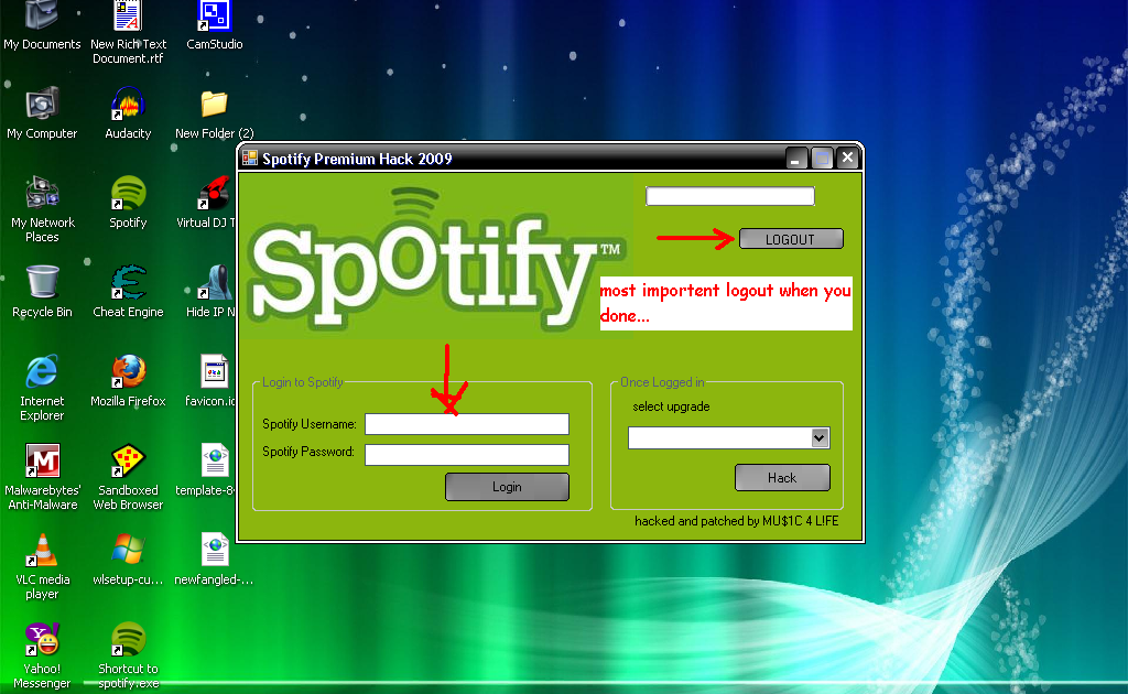 how to put the code for premenium spotify