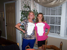 """Aunt Kaci and Aunt Jeni with their """"I love my Aunt"""" outfits for MHM!"""
