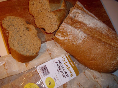 Picture of a loaf of Morrisons Barley Malt and Hops bread, price 99p