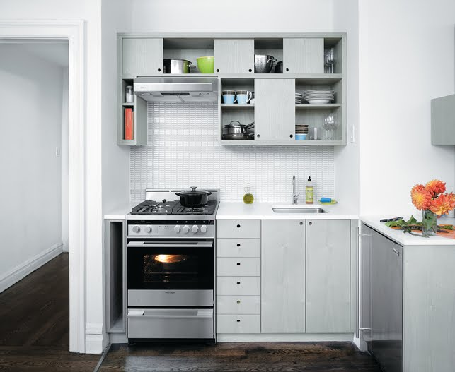 COCOCOZY: WEEKEND PHOTO: A TINY KITCHEN IN SLATE GRAY!