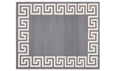 Grey Greek key rug from Madeline Weinrib