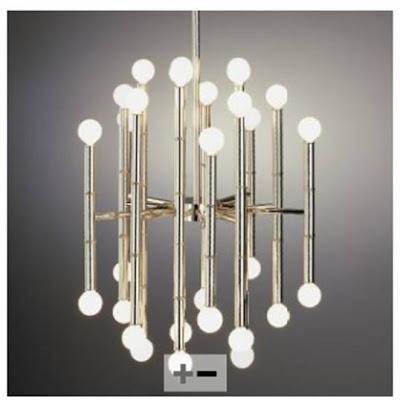 Modern silver chandelier from Jonathan Adler