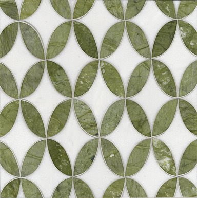 Green and white mosaic tile from Ann Sacks
