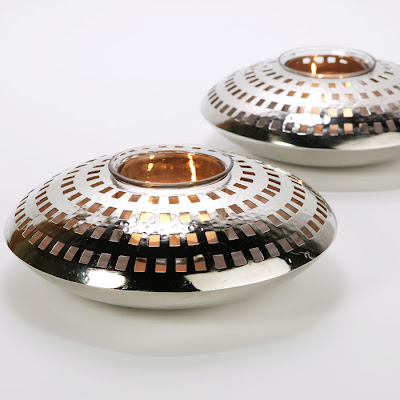 Pierced silver disk tea light holders from Z Gallerie
