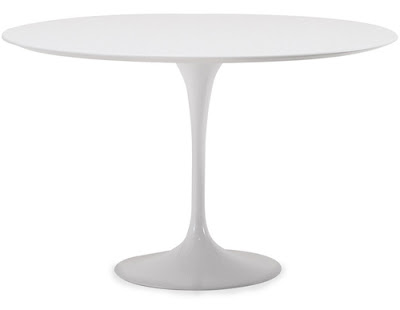 White Saarinen table from Hive