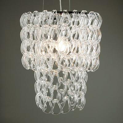 Glass links chandelier from Z Gallerie