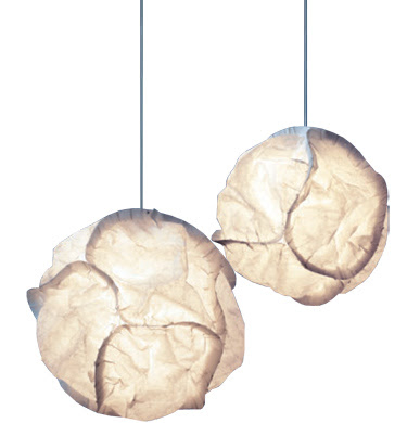 Cloud pendant lights design by Frank Gehry