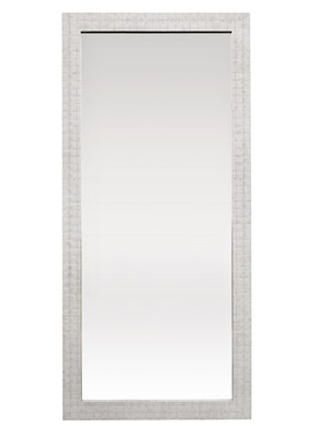 Design on sale daily a birthday concept for a luxe dining for Floor mirror white frame