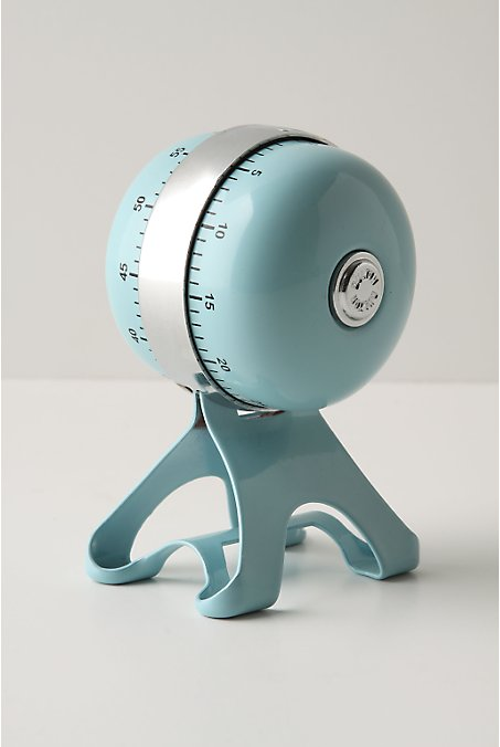 Vintage inspired stainless steel cooking timer from Anthropologie