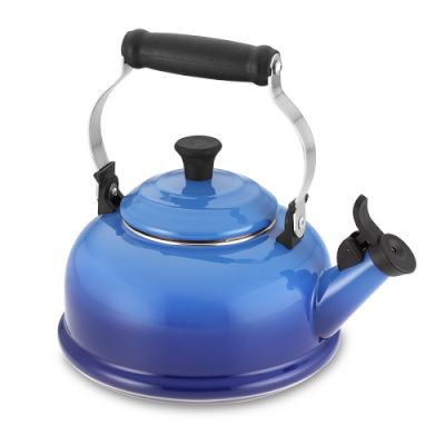 Porcelain-enameled steel kettle from William Sonoma