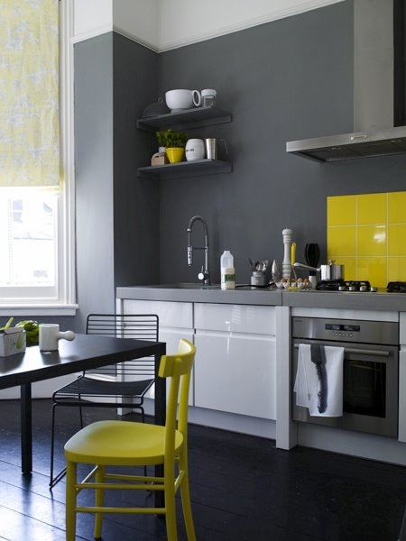 yellow and gray kitchen find