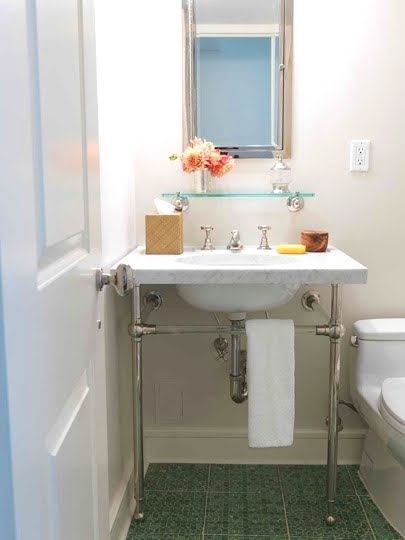 Small Bathroom Sink with Marble Top