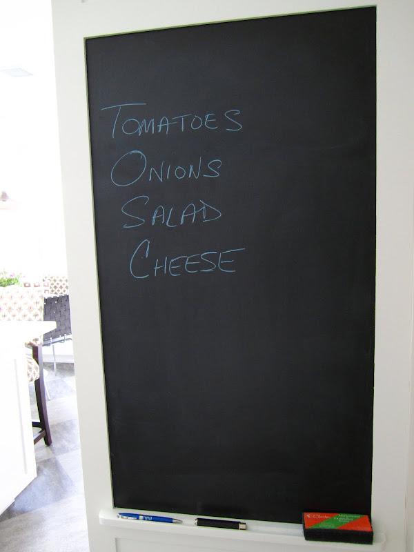 Chalk board in a kitchen