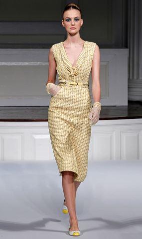Model from Oscar de la Renta's Spring 2011 Ready-to-wear fashion show