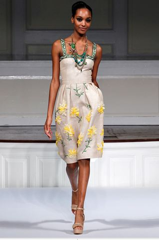 Model from Oscar de la Renta's Spring 2011 Ready-to-wear fashion show