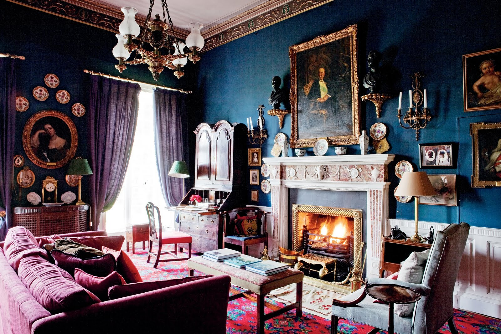 Cococozy historic irish country homes for The blue room
