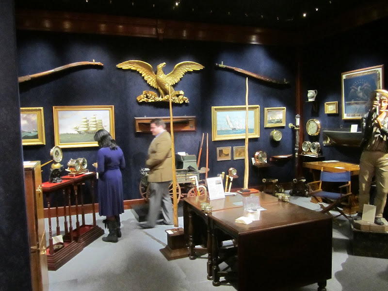 Room of antiques at the Young Collector's Night at the Winter Antiques Show