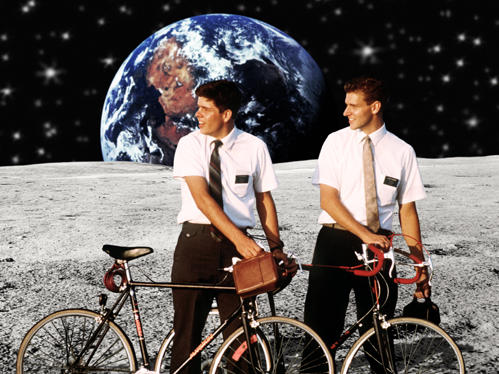 Mormon Missionaries-bikes