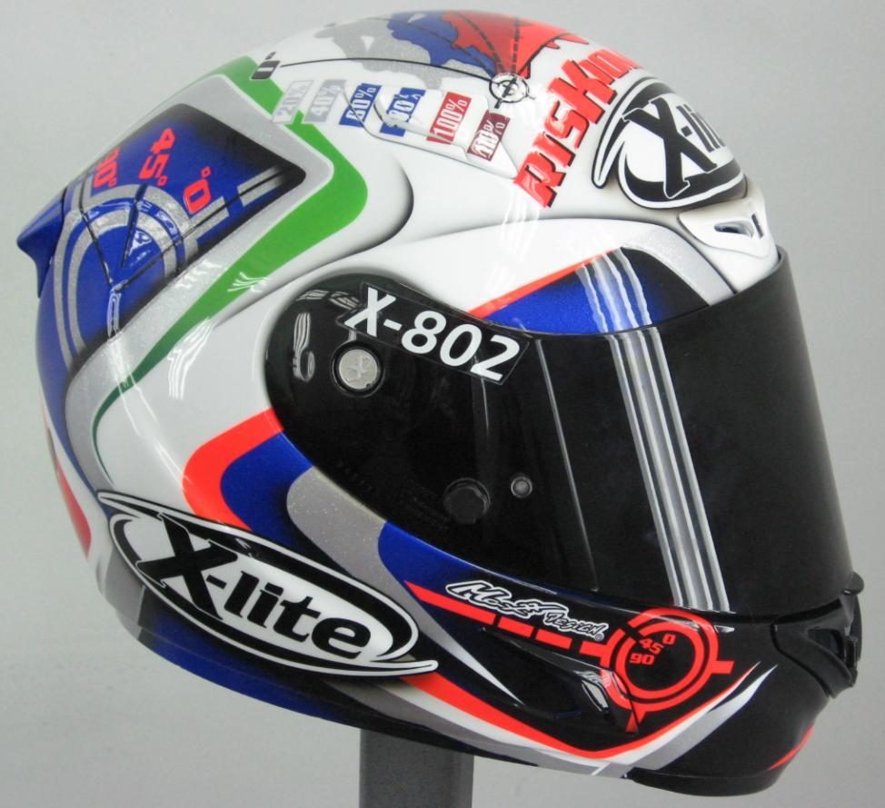 racing helmets garage x lite x 802 mauro sanchini 2010 by. Black Bedroom Furniture Sets. Home Design Ideas