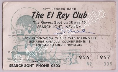 El Rey Casino Line of Credit