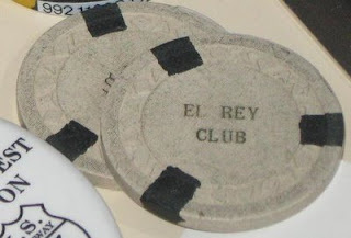 RARE grey El Rey Club chips