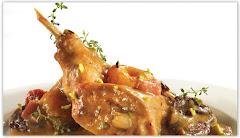 Η συνταγή της εβδομαδας - Kουνέλι στιφάδο με λευκή σάλτσα
